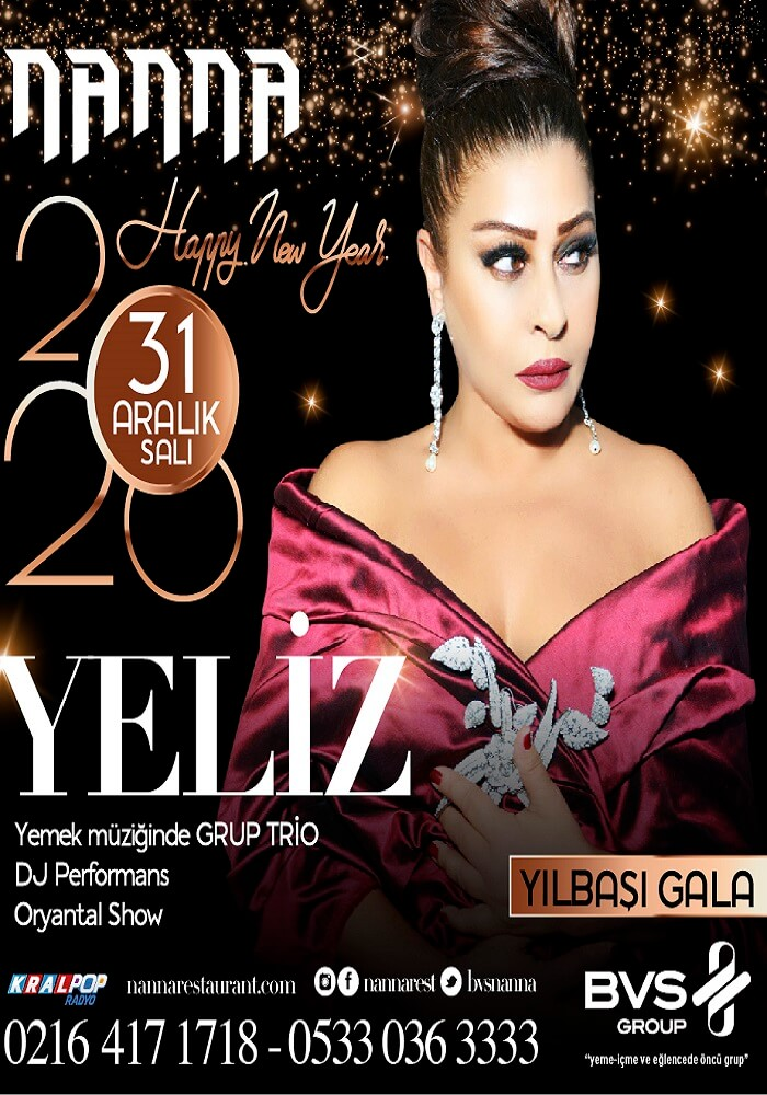 Yeliz ile Nanna Restaurant Yılbaşı Programı 2020