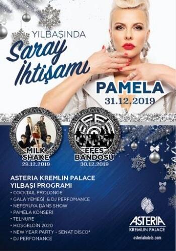 Pamela ile 2020 Yılbaşı Programı Asteria Kremlin Palace Antalya