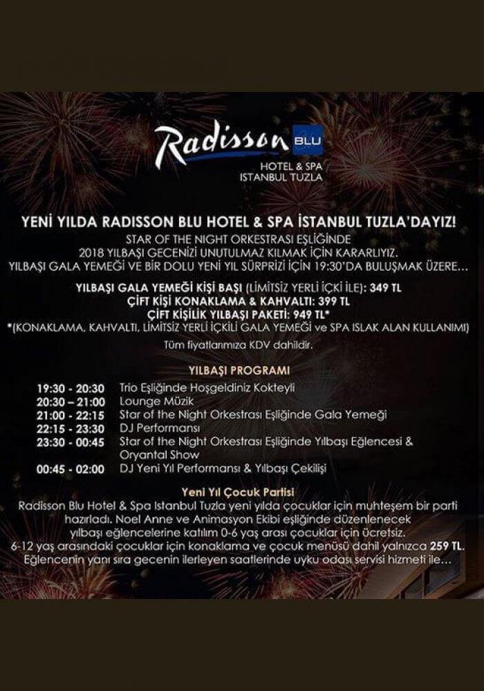 Radisson Blu Hotel Istanbul Tuzla Yılbaşı 2018