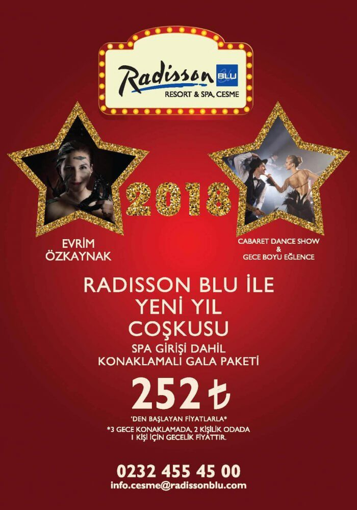 Radisson Blu Resort & Spa, Çeşme yılbaşı 2018
