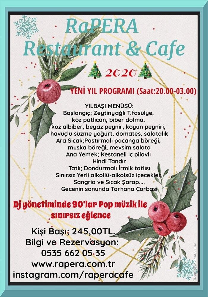 Rapera Restaurant Ankara Yılbaşı Programı 2020