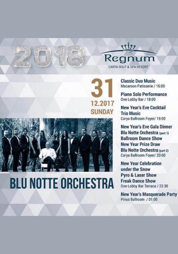 Regnum Carya Yılbaşı 2018