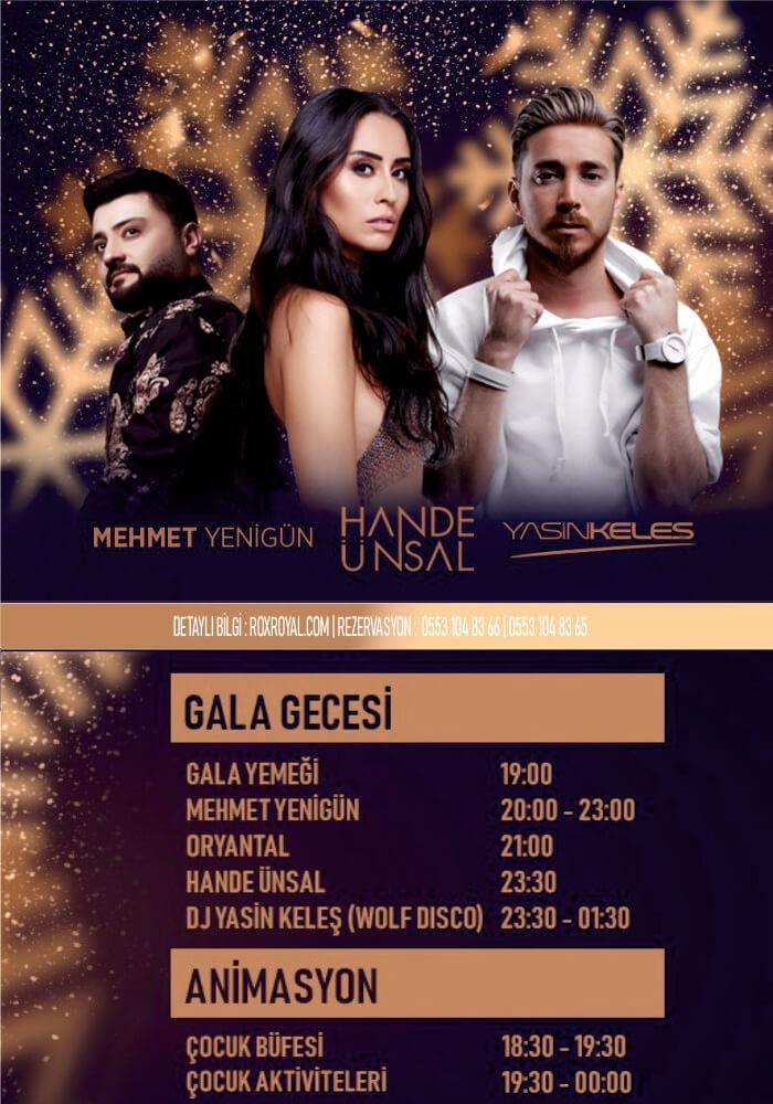Rox Royal Hotel Antalya Yılbaşı Programı 2020
