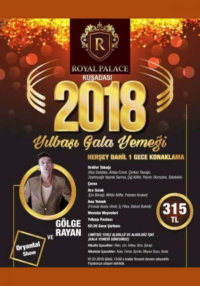 Royal Palace Kuşadası Yılbaşı 2018