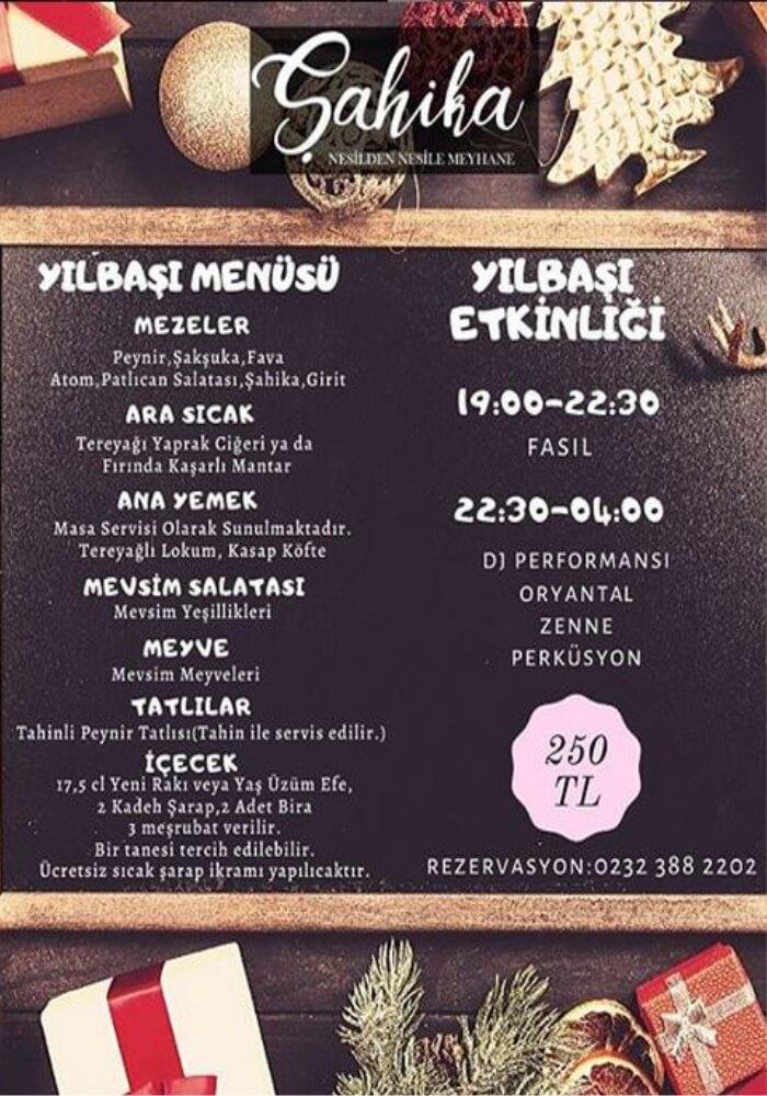 Şahika Meyhane İzmir Yılbaşı Programı 2020