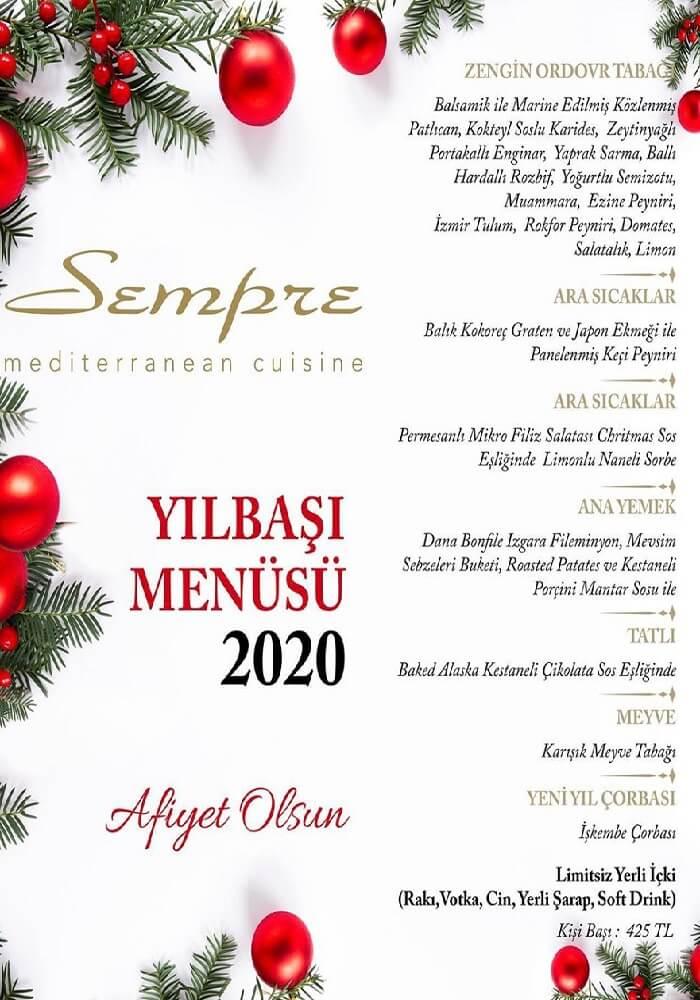 Sempre Restaurant Eskişehir Yılbaşı Programı 2020