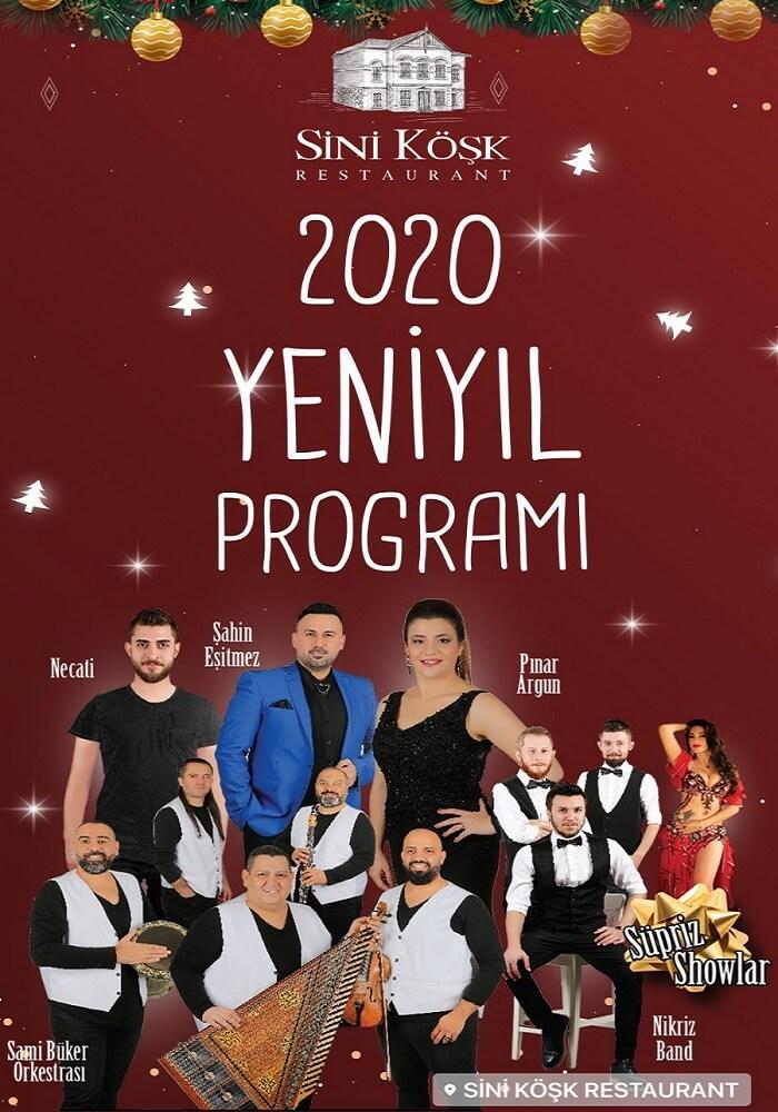 Sini Köşk Restaurant İzmir Yılbaşı Programı 2020