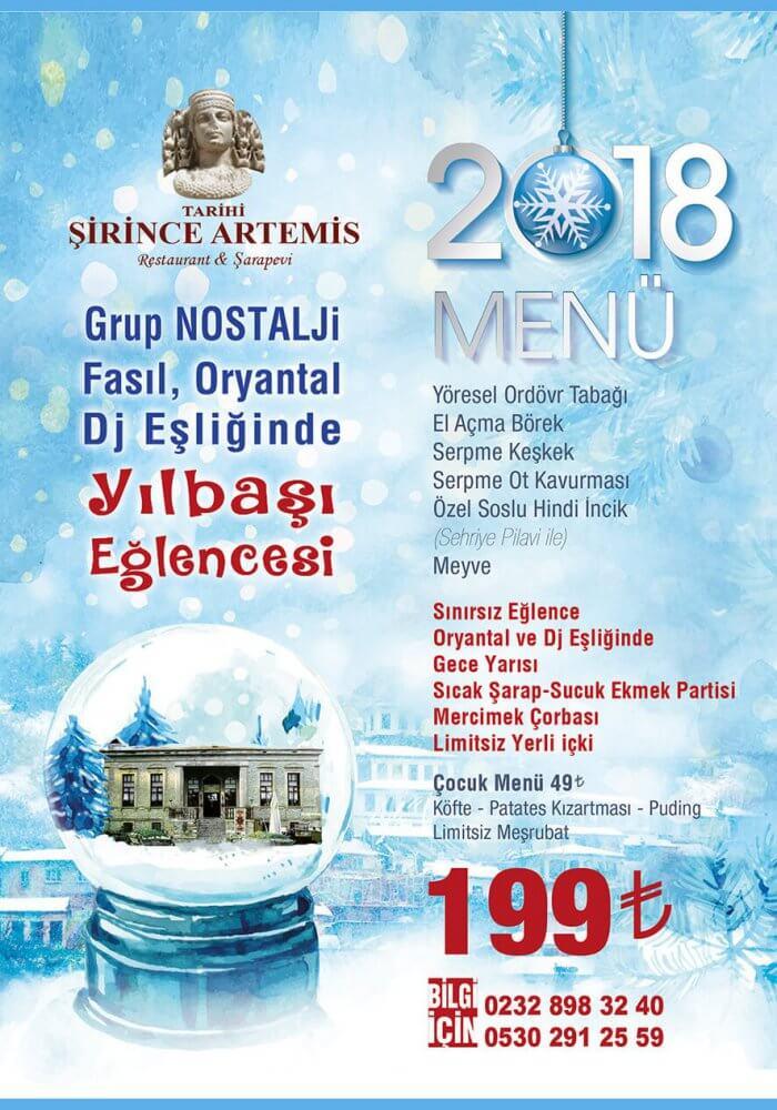 Şirince Artemis Restaurant Yılbaşı 2018