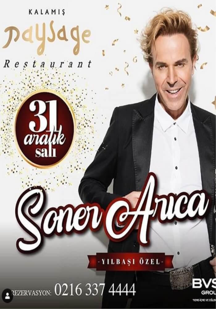 Soner Arıca ile İstanbul Kalamış Paysage Restaurant'ta Yılbaşı Programı 2020