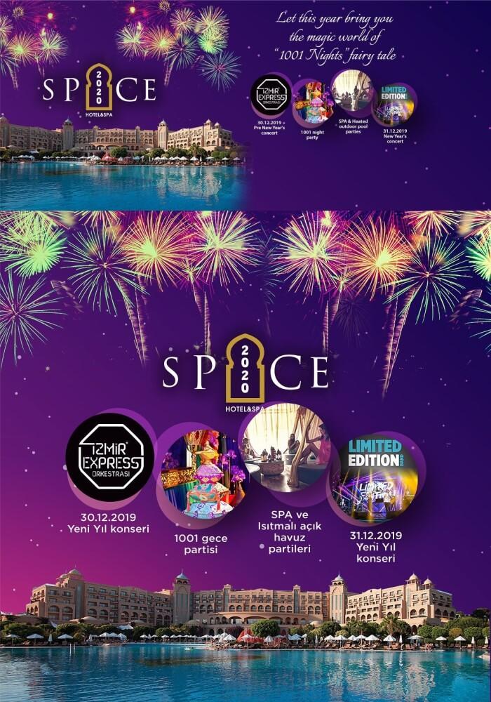 Spice Hotel & Spa 2020 Yeni Yıl Programı