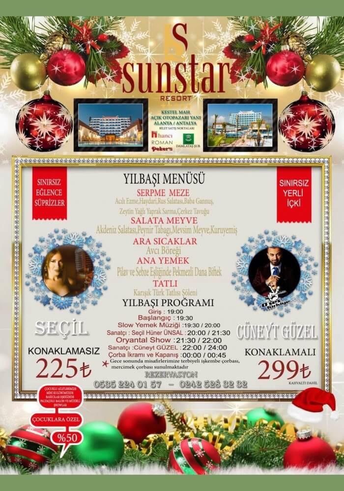 Sun Star Resort Otel Yılbaşı 2018