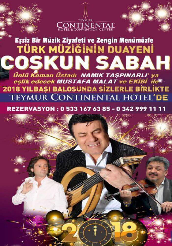 Teymur Continental Hotel Yılbaşı 2018