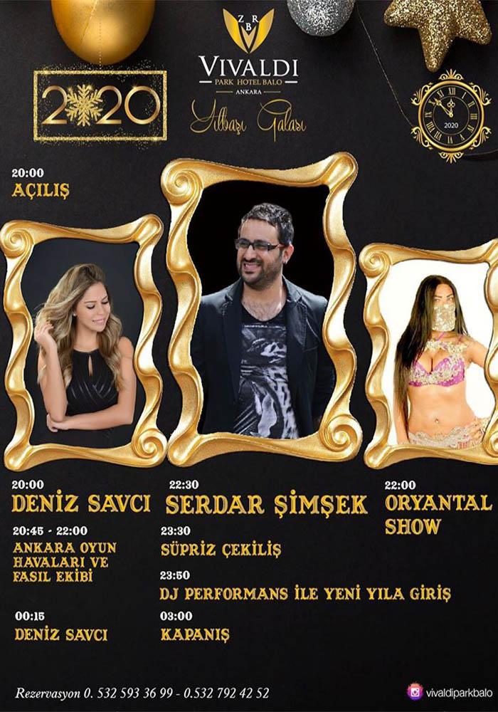 Vivaldi Park Hotel Balo Ankara Yılbaşı Programı 2020