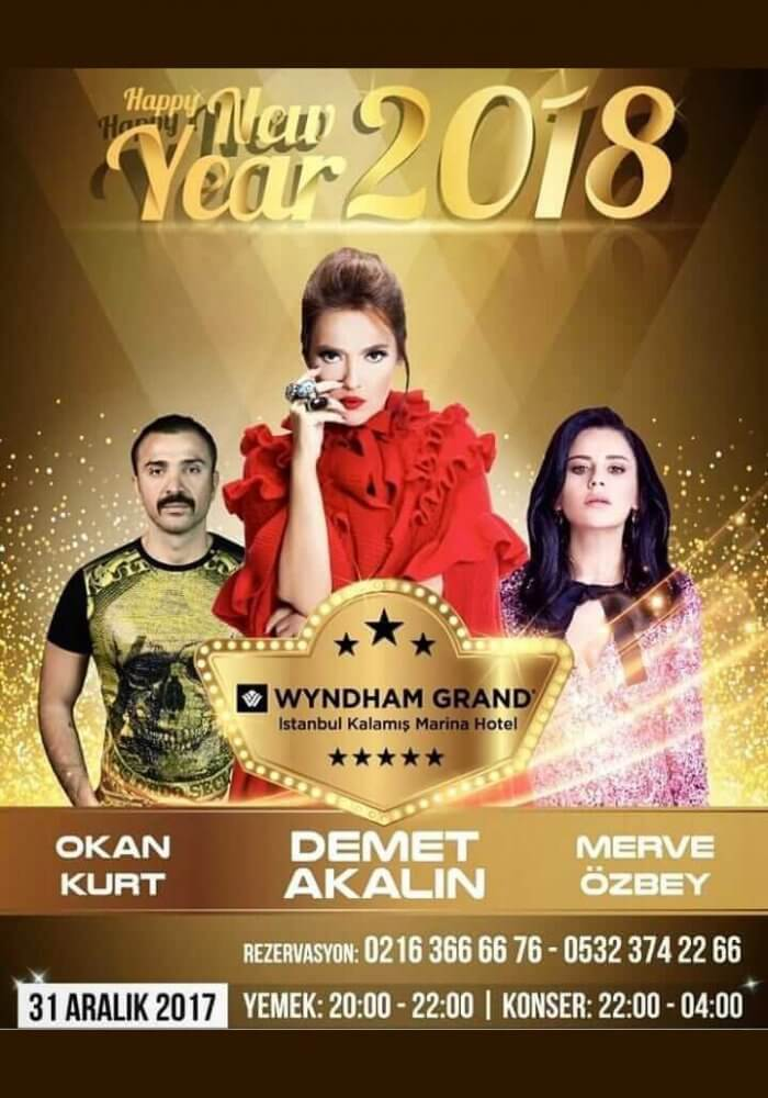 Wyndham Grand Istanbul Kalamis Marina Hotel Yılbaşı 2018