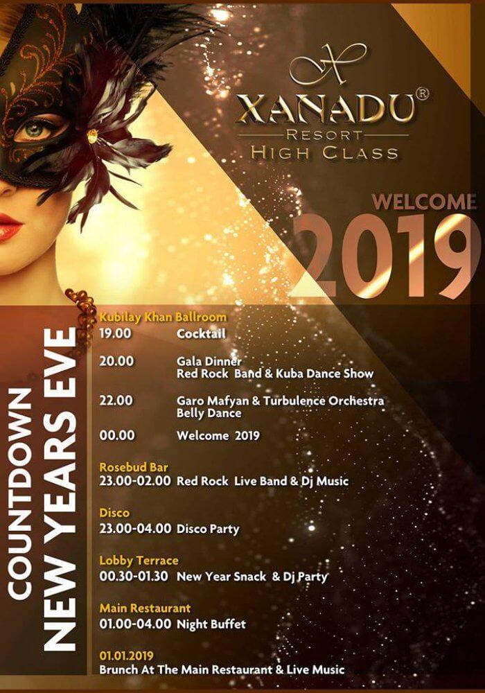 Belek Xanadu Hotels Antalya 2019 Yılbaşı Programı